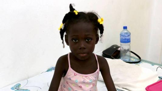 Benecia in the inpatient pediatric unit for malnutrition treatment