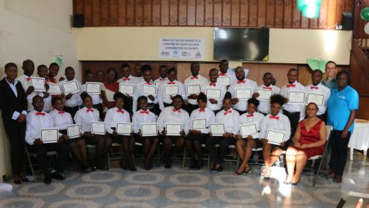 Community Health Worker graduation in Les Cayes