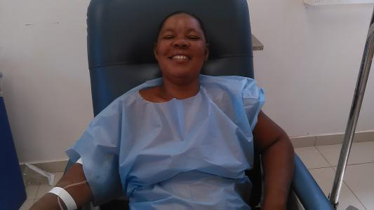 Natacha Cadet prepares for surgery