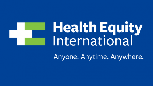Health Equity International logo and tagline