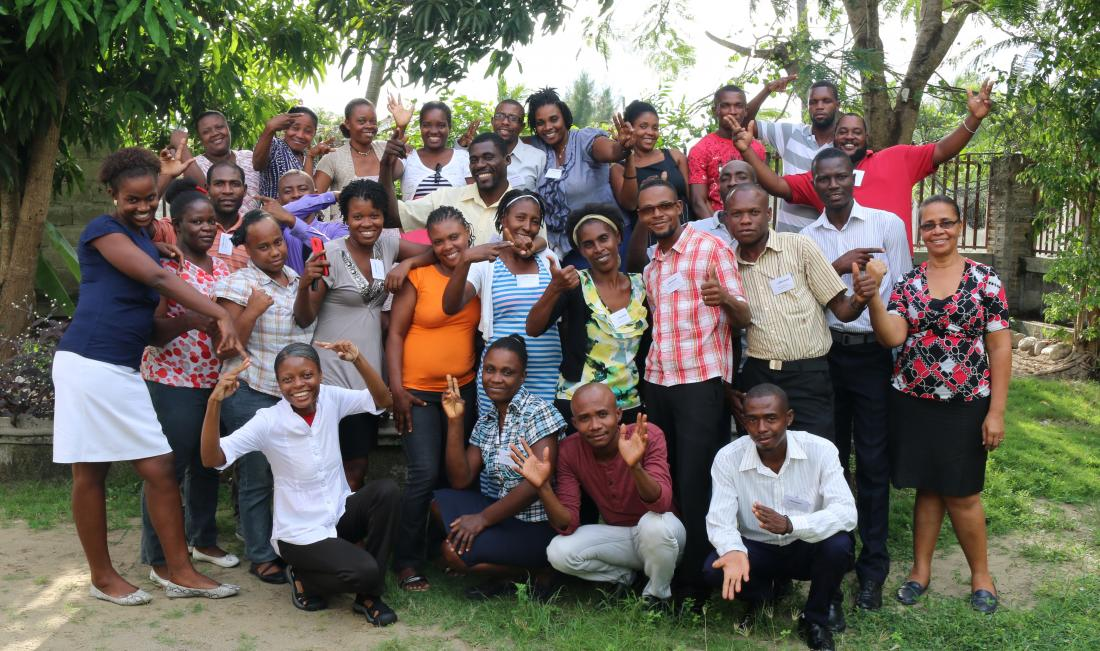 Community Health Worker trainees in Les Cayes