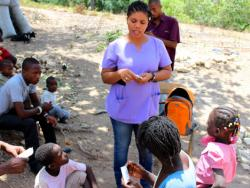 Community Health Nurse conducts an education session in rural Haiti
