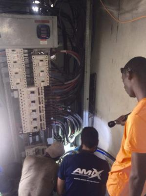 turning on the new solar power system